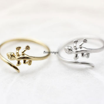 Lizard Ring ,lizard wrap ring, lizard knuckle ring, knuckle ring, lizard midi ring