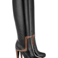 Pierre Hardy|Leather knee boots|NET-A-PORTER.COM
