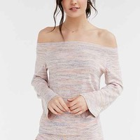 Ecote Space-Dye Off-The-Shoulder Sweater