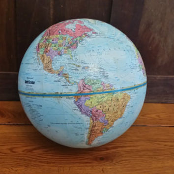 "Vintage 10"" Replogle World Scholar Globe Without Stand Great Mid Century Decor Repurpose Upcycle"
