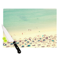 "Ingrid Beddoes ""Happy Summer"" Beach Cutting Board"