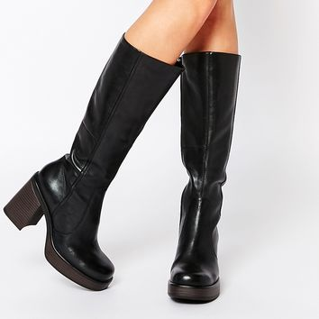 Vagabond Tyra Black Leather Knee High Boots