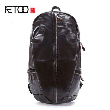University College Backpack AETOO New leather  men's  first layer of leather Japan and South Korea simple magazine  wind leisure trenAT_63_4