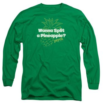 Psych - Pineapple Split Long Sleeve Adult 18/1 Officially Licensed Shirt