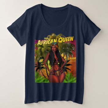 Black African Queen Plus Size T-Shirt