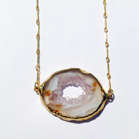 Sliced Agate Geode Necklace II