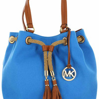Michael Kors Jet Set NS Marina Large Gathered Tote Handbag