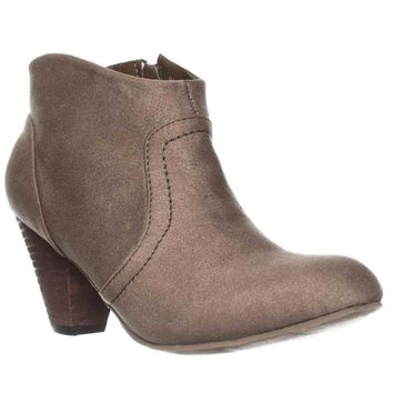XOXO Aldenson Western Ankle Booties, Taupe, 11 US / 43 EU