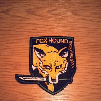 FOXHOUND Special Forces MGS Iron on Patch Big Boss Emblem from Metal Gear Solid PSone VIdeo Game