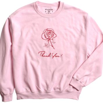 Thank You Rose Long Sleeve Sweatshirt