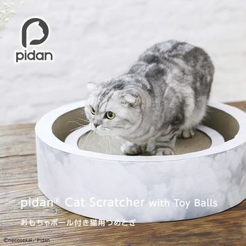 Cat Scratcher With Toy Balls