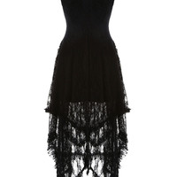 Lace Maxi Dress in Black