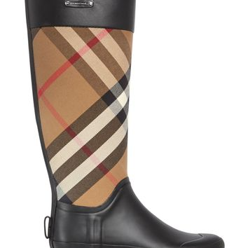 Burberry Clemence Signature Check Rain Boots | Bloomingdales's