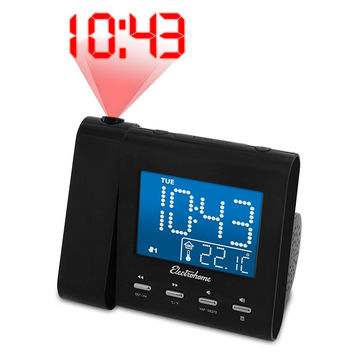 LCD Digital Smart Projection Alarm Clock with Radio and Temperature Large Display