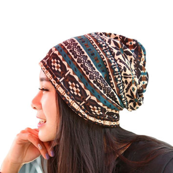 Winter Women Knitted Hats Thickening Woolen Hat Warm Scarf Hat High Quality Earflap Hat Crochet Wool Beanie