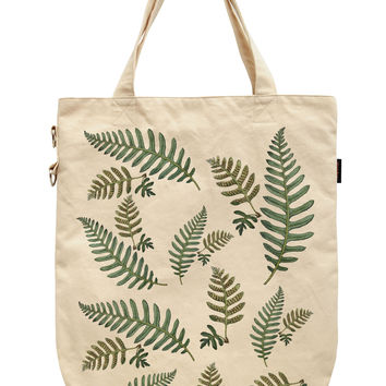 Women Botanical Leaf Printed Canvas Tote Shoulder Bags WAS_39