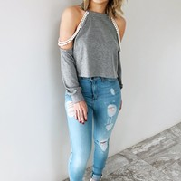 Livin' Out Of Love Sweater: Grey/Pearl