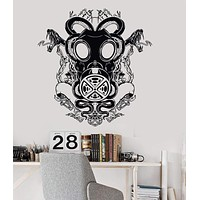 Vinyl Wall Decal Gas Mask Snake Cool Teen Room Decor Stickers Mural Unique Gift (026ig)