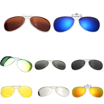 New Men Women Polarized Clip On Sunglasses Fishing Night Anti UV Driving Cycling Fishing riding Sunglasses Clips