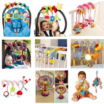 Educational Baby Rattles Mobiles Animal Spiral Rattles Toys For Baby Stroller Bed Bell In Bed Baby Playing Stroller Hanging Toys