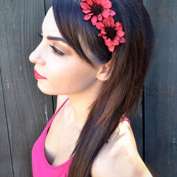 Red Flower Headband #C1038