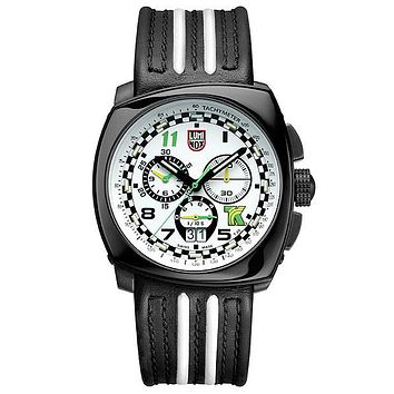 Luminox Tony Kanaan Limited Edition Chrono - Black PVD - Leather Strap - Retired