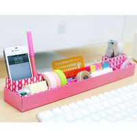 Multi Desk top DIY mini storage box in box tray - princess