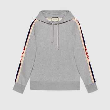 Gucci - Sweat-shirt à capuche et rayure Gucci