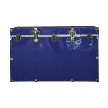 Pre-owned Vintage Royal Blue Travel and Steamer Trunk