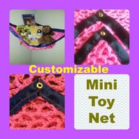 Customized Mini Toy Net, You pick the colors (Black, pink, yellow, navy, blue, light, dark, red, brown, grommet, eyelet, strong)