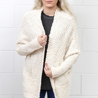 Oversized Wubby Sweater Cardigan {Cream}