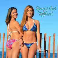 fun and flirty starfish coral and seahorse beach ocean coral reef bikini