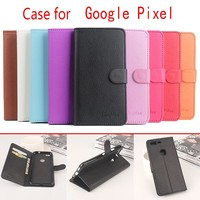 "9 Colors Litchi Texture For Google Pixel Case 5.0"" Luxury Wallet PU Leather Back Cover Phone Cases For Google Pixel Case Flip"