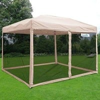 Pop up Canopy Party Tent Commercial Instant Gazebos Mesh Sides