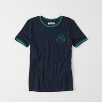 Womens Logo Ringer Tee | Womens Clearance | Abercrombie.com