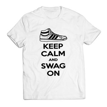 Keep Calm And Swag On Artwork Clothing T shirt Men