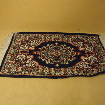 Handcrafted Area Rug 40in L x 19in W Multicolor Persian Design Wool Cotton -- Used