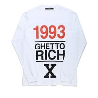 1993 GHETTO RICH X LONG SLEEVE TEE / OFF WHITE