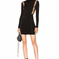 Clark Mock Neck Bandage Mini Dress