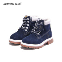 CCTWINS KIDS autumn winter fashion martin boots for children genuine leather shoes baby girls red boots boys blue ankle boots