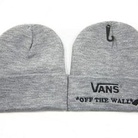 VANS Women Men Embroidery Beanies Winter Knit Hat Cap
