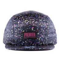 Black speckled snapback