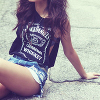 Jack Daniels Deep Cut Side Muscle Tank