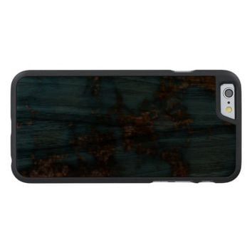 Natural Turquoise Stone Carved® Walnut iPhone 6 Case