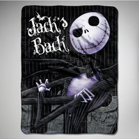 Nightmare Before Christmas 'Pinstripe Jack' Fleece Blanket