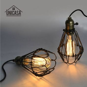Brown Metal Shade Pendant Lights Vintage Industrial Wrought Iron Lighting Mini Modern Ceiling Fixture Hotel Bar LED Ceiling Lamp