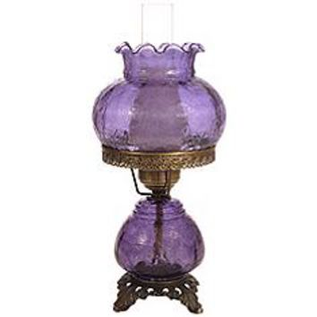 Grape Crackle Night Light Hurricane Accent Table Lamp | www.lampsplus.com