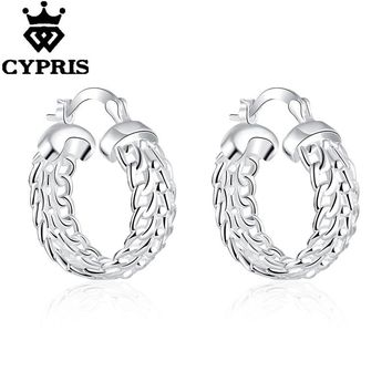 WHOLESALE E715 New supplies earrings fashion high quality cute chic clip silver earrings women lady gift hot sexy wholesale