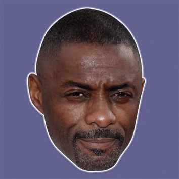 Confused Idris Elba Mask - Perfect for Halloween, Costume Party Mask, Masquerades, Parties, Festivals, Concerts - Jumbo Size Waterproof Laminated Mask
