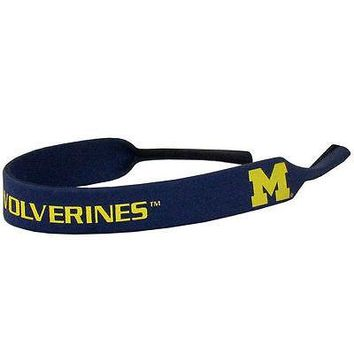 Michigan Wolverines Neoprene Sunglass Eyeglass Strap Holder Croakie